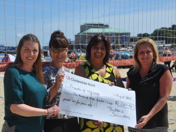 Record Volleyball proceeds smash Charity target